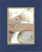 Love Never Ends . . . 8 x 10 Inches Biblical/Religious Verses set in Double B... - $9.85