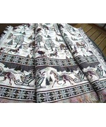 """Heavy Pictoral Throw Blanket with Winter Sleigh Ride Scene 52""""x64"""" #6865 - $14.99"""