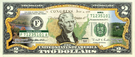 IOWA State/Park COLORIZED Legal Tender U.S. $2 Bill w/Security Features - $13.98