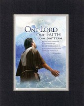 One Lord, One Faith, One Baptism - 1 Peter 3:21. . . 8 x 10 Inches Biblical/R... - $9.85