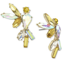 Betsey Johnson Gold Crystal Cockatoo Large Womens Stud Earrings NWT - $34.16