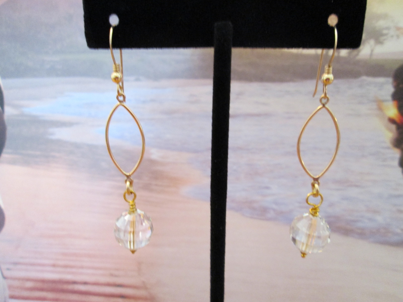 """Royalty"" Earrings.  A 12mm Crystal Antique Pink Swarovski Crystal Chessboard Be"