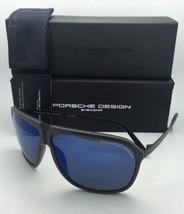 Neu Porsche Design Sonnenbrille P'8618 B P ' 86bf V Grau & Rahmen / Blau Spiegel