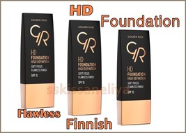 Golden Rose, HD Foundation High Definition, Soft Focus & Flawless Finish... - $10.49
