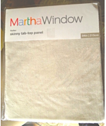 Pair Martha Window Skinny Tab SoftCrinkle Light Weight Curtain Panels#6851 - $19.99
