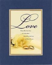 Love . . . 8 x 10 Inches Biblical/Religious Verses set in Double Beveled Matt... - $9.85