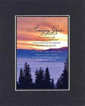 Amazing Grace . . . 8 x 10 Inches Biblical/Religious Verses set in Double Bev... - $9.85