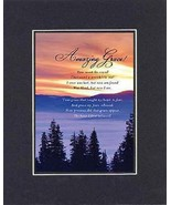 Amazing Grace . . . 8 x 10 Inches Biblical/Religious Verses set in Doubl... - $9.85
