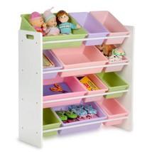 Honey-Can-Do SRT-01603 Kids Toy Organizer and Storage Bins, White/Pastel - $69.99