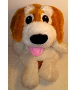 Giant Puppy Dog Plush Pillow Stuffed Animal Spotted White Brown Floppy 2... - $29.68