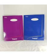 2 Vintage Trapper Portfolio Folders Blue & Pink Retro Mead 33100 - $28.98