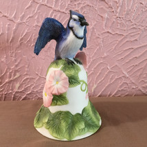 Avon Collectibles Blue Jay Bell 2001 White Floral  - $5.69