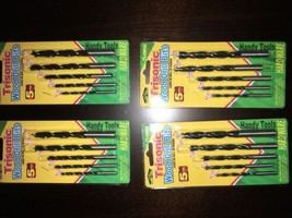 New Lot Of 4 Drill Bit Sets. Each Set 5 Bits For Wood Metal Or Plastic, ... - $17.75