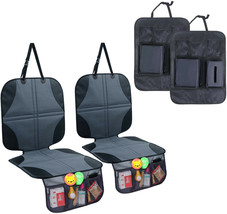 4 Packs Child Car Seat Protectors & Kick Mat Seat Cover with Backseat Or... - $44.54