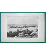 CUBA View of Havana - 1891 Antique Print Engraving - $20.25