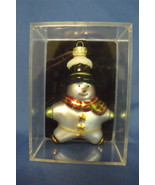 Christmas Snowman Glass Ornament - $7.95