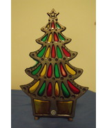 Christmas New Tiffany Style Glo Candle Christmas Tree 7 inches - $8.95