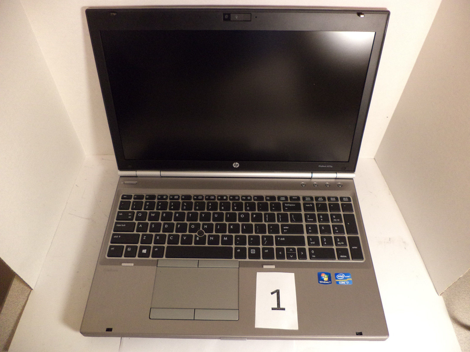 HP Compaq EliteBook 8570p i7 CPU Laptop 2 GB RAM No Hard Drive No OS Lot 3 AS-IS