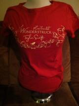 TAYLOR SWIFT ENCHANTED WONDERSTRUCK  PERFUME RED T SHIRT Ladies Womens L - $32.71
