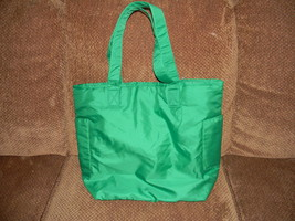 NORDSTROM GREEN TOTE BAG WITH TWO SIDE POCKETS - $19.99