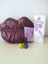 SELENA GOMEZ LIP SHAPED  BAG WITH CHAIN STRAP GIFTSET W NAIL POLISH & FR... - $167.94