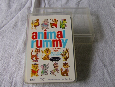 Vintage Whitman Animal Rummy Children's Card Game