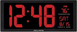 LED Clock With Indoor Temperature Date and Fold Out Stand High Quality 1... - $47.70