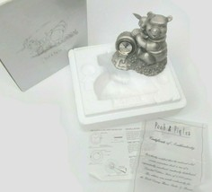 Disney Limited Edition Pewter Winnie The Pooh & Piglet Clock 429/5000 - $44.54