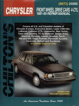 CHRYSLER FRONT WHEEL DRIVE CARS 4-CYL--1981-95 ... - $3.99