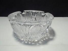 LARGE DEEP CIGAR CRYSTAL / GLASS ASHTRAY~~NICE ONE - $22.95