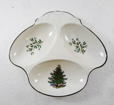 Cuthbertson Christmas Tree Three-Section Appetizer Hors D'Oeuvres Desser... - $37.73