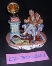 CAPODIMONTE Grandfather with Gramaphone Laurenz Sculpture COA Italy 247 - $399.00
