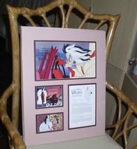 Cruella DeVil 101 Dalmatians Disney Villain Cast member Gold Seal Lithog... - $149.99