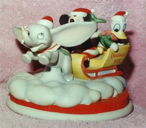 Disney - Dumbo - Donald Duck - Mickey Mouse -  Figurine - Porcelain