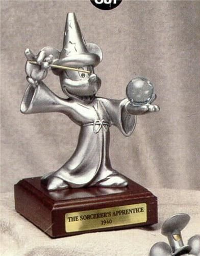Disney Fantasia Mickey Sorcerer with crystal ball LE Figurine made in USA