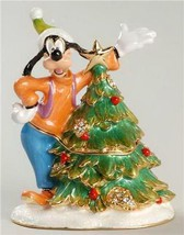Disney Goofy porcelain jeweled keepsake treasure box HB Figurine - $69.99