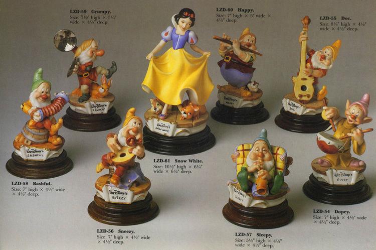 Disney Snow White 8 Figures Laurenz Capodimonte Disney  C.O.A. Original Box - $2,000.00