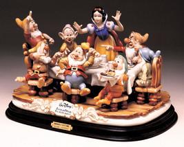 Disney Snow White & the 7 Dwarfs Dinner Laurenz Capodimonte  C.O.A. Original Box - $2,900.00