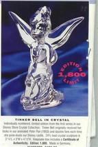 Disney Tinkerbell Peter Pan Crystal Figurine Last one Left get it now - $155.00