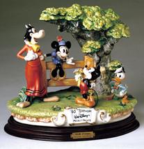Mickey Donald Clarabelle Cow Capodimonte Disney Laurenz C.O.A. Original Box - $1,675.00