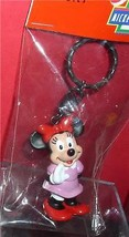 Minnie Mouse  Disney Figurine  key chain made of PVC Mint - $14.84