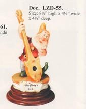 Snow White Doc Musician  Disney Laurenz Capodimonte C.O.A. Original Box - $340.00