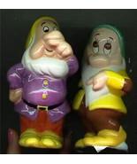 Snow White & the 7 Dwarfs Salt & Pepper 2 Dwarfs Disney - $34.99