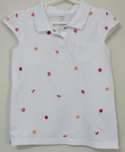 Girls Carters White Cap Sleeve Top Size 5 - $4.95