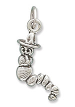 Adorable Sterling Silver Caterpillar Charm - $4.99