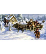 Kids deer winter sleigh thumbtall