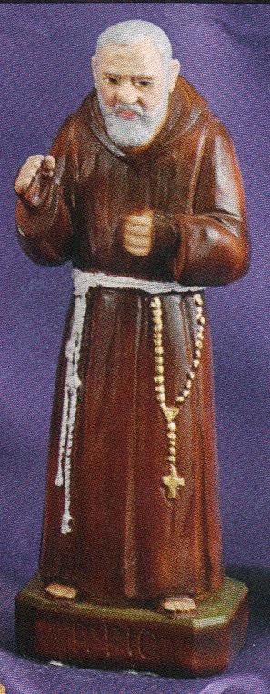 Padre pio 8 inch statue