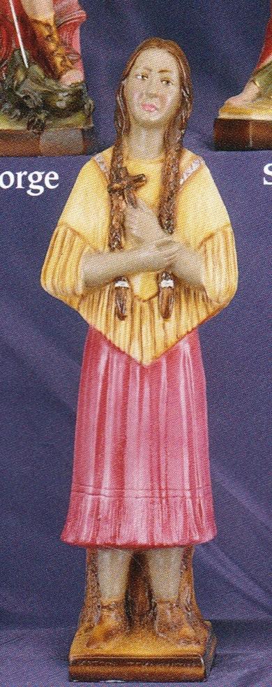St. kateri tekawitha   12 inch statue