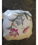 Porcelain flower and butterfly lidded trinket box  - £4.61 GBP