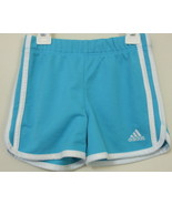 Girls Adidas Aqua with White Trim Polyester Sho... - $5.00
